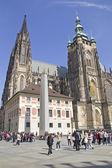 Prague street scene .Czech Republic — Stock Photo