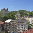Panorama of Karlovy Vary,Czech famous spa place — Stock Photo