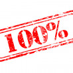 Hundred percent rubber stamp — Stock Vector