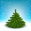 Little fluffy Christmas tree — Imagen vectorial