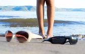 Verres sur la plage — Photo