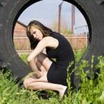 Portrait beautiful girl outdoor — Stock Photo