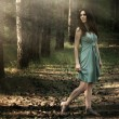 Stock fotografie: Beautiful woman in nature scenery