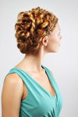 Woman with beautiful hairstyle — Stok fotoğraf