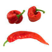 Smile sad composed of red chili peppers — Stock Photo