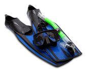 Mask, snorkel and flippers — Stock Photo