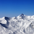 Stock Photo: Snowy mountains and blue sky