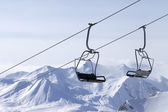 Ropeway at ski resort — Stock fotografie