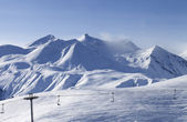 View on ski resort in evening — Stock Photo
