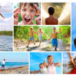 Happy summer childhood collage — Stock Photo