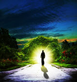 Walking to Eden. Abstract spiritual backgrounds — Stock Photo