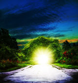Portal to Eden. Abstract spiritual backgrounds — Stockfoto