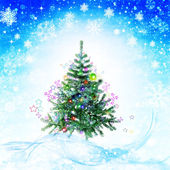Xmas abstract winter backgrounds — Stock Photo