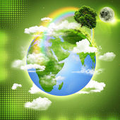 Green Earth. Abstract natural backgrounds — Stockfoto