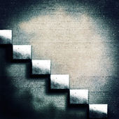 Abstract concrete stairs. Grunge architecture backgrounds — Stockfoto