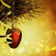 Xmas decorations with beauty bokeh, abstract backgrounds — Stock Photo #11657843