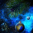 Christmas decoration ball on the firtree. — Stock Photo #11657869