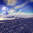 Another world. Fantastic landscape, 3D rendered image — Stock Photo