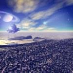 Another world. Fantastic landscape, 3D rendered image — Stock Photo