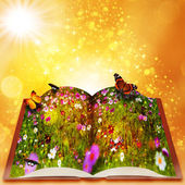 Fairy tales from magic book. — Stock Photo