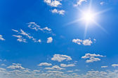 Nature background. white clouds over blue sky — Stock Photo