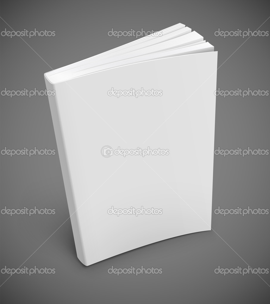 Blank book cover vector illustration gradient mesh used EPS10.  Stock Vector #11814162