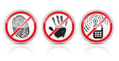 Set of restrictive signs icons — Stock Vector