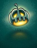 Terrible jack-o-lantern head for halloween card — Stock Vector