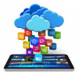 Royalty-Free Stock Photo: Cloud computing and mobility concept