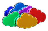 Cloud computing concept — Stock Photo
