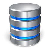 Hard disk and database icon — Stock Photo