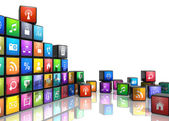 Conceito de aplicações móveis — Foto Stock