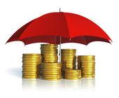 金融の安定性、ビジネスの成功と保険の概念 — ストック写真