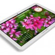 White tablet PC — Stock Photo