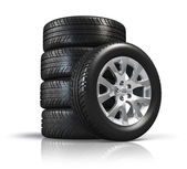 Set of car wheels — Stock Photo
