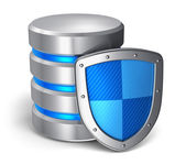 Conceito de segurança de dados banco de dados e computador — Foto Stock