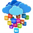 Stock Photo: Cloud computing and mobility concept