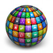 Sphere from color application icons — Stock Photo #11032235