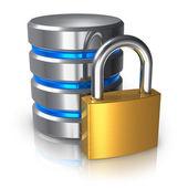 Database en computer gegevens veiligheidsconcept — Stockfoto