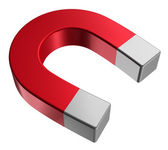 Red horseshoe magnet — Stock Photo