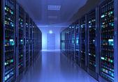 Interior sala de servidores — Foto de Stock