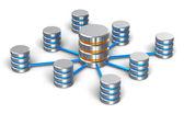 Databáze a sítě koncepce — Stock fotografie
