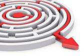 Circle labyrinth — Stock Photo