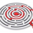 Circle labyrinth - Stock Photo