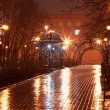 Night alley in the city park — Stock Photo