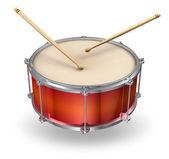 Red drum com baquetas — Foto Stock