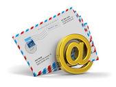 электронная почта и интернет сообщения концепции — Стоковое фото