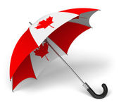 Umbrella with Canadian national flag — Stock Photo