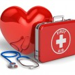 Stockfoto: Medical assistance and cardiology concept