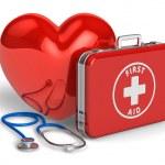 lékařská pomoc a kardiologie koncept — Stock fotografie